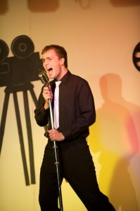 Me performing at 'A night at the Movies'